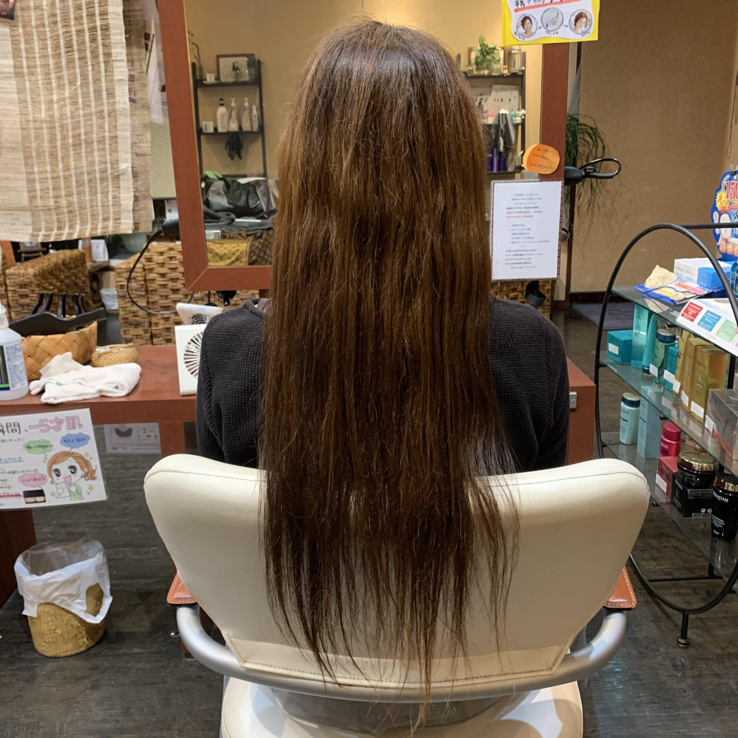 徳竹さんの髪ちょこっとカット